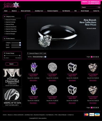 website developed by 7eye technologies